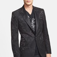 Men's Versace Collection Trim Fit 'Black Baroque' Evening Jacket,