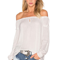 YFB CLOTHING Prince Top in Silver | REVOLVE