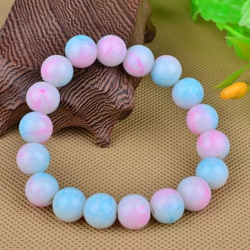LNRRABC Cheap AAA+ Quality 2015 Handmade Natural Stone Glass Beads Charm Bracelets for Fashion Jewelry Gifts