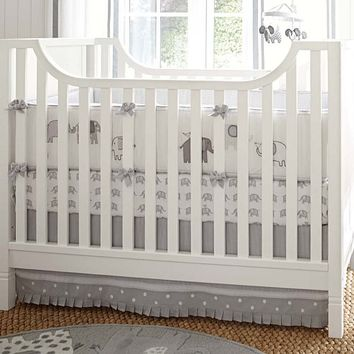 Gray Elephant Nursery Quilt Bedding Set: Toddler Quilt, Crib Skirt & Crib Fitted Sheet | Pottery Barn Kids