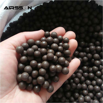 Airsoft 100PCS lot Slingshot Beads Bearing Mud Beads Hunting Slingshot Ammunition Ammo Solid Drawing-board Clay Mud Eggs Ball