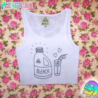 Drink Bleach with a Crazy Straw and Die Crop Top Tank // RUDE KAWAII // fASHLIN