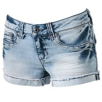 Hydraulic Distressed Shortie Shorts - Juniors