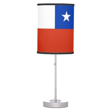 Patriotic table lamp with Flag of Chile