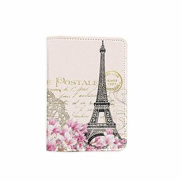 Paris Magnolia Customized Cute Leather Passport Holder - Passport Covers - Passport Wallet_SUPERTRAMPshop