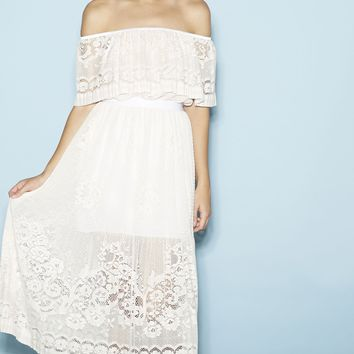 White Patchouli Dress Tea Rose - alice McCALL