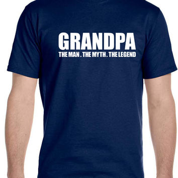 Grandpa, The Man, The Myth, The Legend Men's T-Shirt