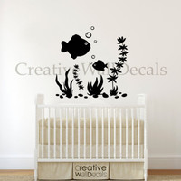 Vinyl Wall Decal Sticker Fish undersea world corals kids nursery baby r1785