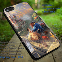 Beauty and The Beast Thomas Kinkade Disney Painting iPhone 6s 6 6s+ 5c 5s Cases Samsung Galaxy s5 s6 Edge+ NOTE 5 4 3 #cartoon #disney #animated #BeautyAndTheBeast dt