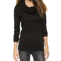 Dkny Long Sleeve Cowl Neck Pullover - Black | The Store