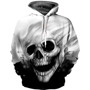 3D Unisex Graphic Hipster Skull Sweatshirts Melted