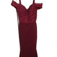 Red Sleeveless Evening Long Prom Ball Gown Dress 57% off retail