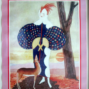 Vogue 1924 Magazine Cover Poster Framed by Marsel Mirror Brooklyn