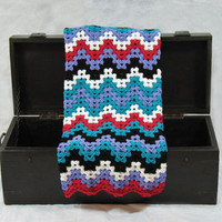 Rocker Chic Chevron Baby Blanket, Perfect for Baby Shower Gifts, Car Seat Covers, Crib Blankets, Tummy Time, Ready to Ship