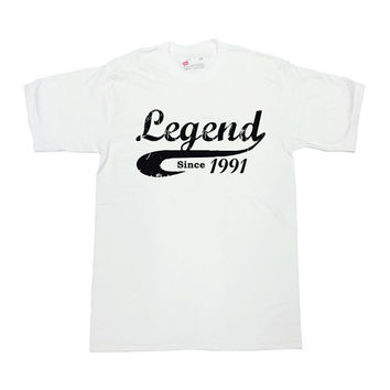 Legend Since 1991 (Any Year) 25th Birthday Gift 25 Years Old Gifts For Birthday Shirt Custom T Shirt Funny Bday Tee Mens Ladies Tee - SA306
