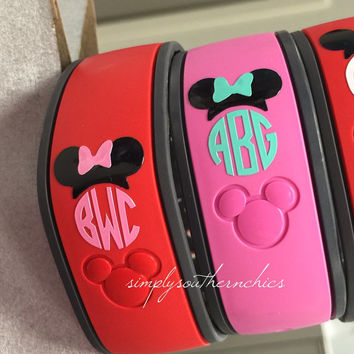 Monogrammed Disney Magic Bands - Disney Magic Band Monograms - Minnie Mouse Monograms - Mickey Mouse Monograms - Disney Vacation Monograms
