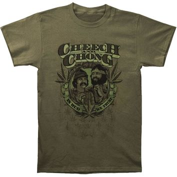 Cheech & Chong Men's  In Weed We Trust T-shirt Green