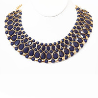Navy Pharaoh Necklace Set