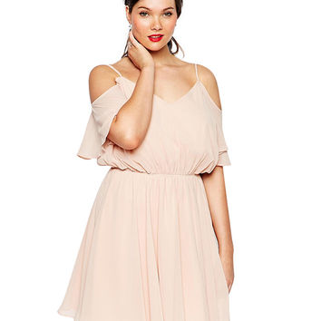 Pink Chiffon Mini Dress