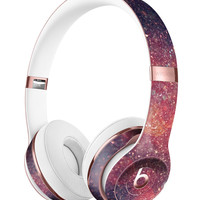 Red and Blue Unfocused Shimmer Lights Full-Body Skin Kit for the Beats by Dre Solo 3 Wireless Headphones