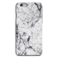 White cracked marble phone case, marble design for iPhone 6 iPhone 5 case, cool phone case print pattern case cover rubber bumper case-MA001