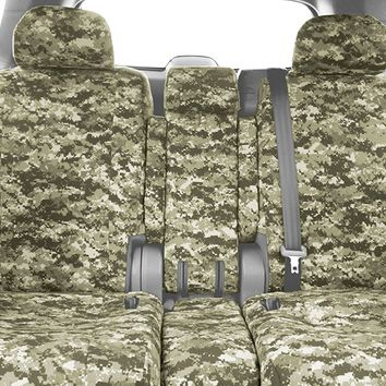 CalTrend Front Row 40/20/40 Split Bench Custom Fit Seat Cover for Select Nissan Titan Models - Camouflage (Forest)