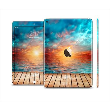 The Paradise Sunset Ocean Dock Skin Set for the Apple iPad Air 2
