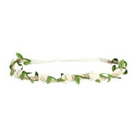 H&M - Hairband with Flowers - Natural white - Ladies