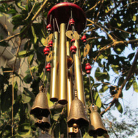 Outdoor Living Wind Chimes Yard Antique Amazing Garden Tubes Bells Copper Home Windchime Chapel Bells Wall Hanging Home Decor