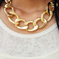 Unchained Melody Necklace: Gold