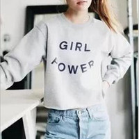 Causal Letters Print Sweater Shirt B0014098