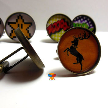Custom Cuff Links great gift for men or for picture day name geek personalize for free! Cuff link, wedding day, groomsmen gifts.