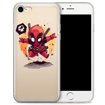 "Deadpool (animated) Jelly Clear Case for Apple iPhone 6/6s (4.7"")"