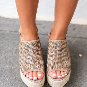 Steven By Steve Madden: Courage Wedges, Cognac