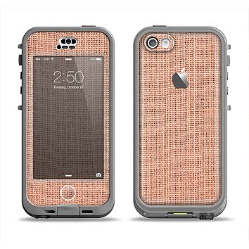 The Woven Burlap Apple iPhone 5c LifeProof Nuud Case Skin Set