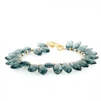 Blue Quartz Faceted Marquis Bracelet