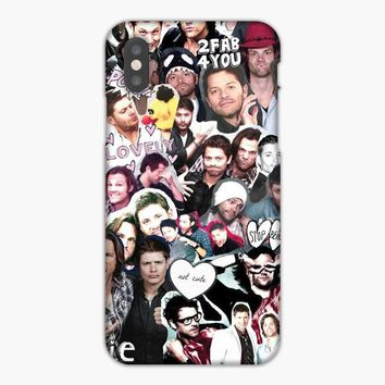 Destiel Supernatural Collage iPhone XS Max Case