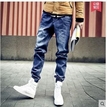 Mountainskin Men's Distressed Jogger Slim Fit Denim Pants Skinny Stretch Elastic Jeans