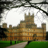 Downton Abbey Photo Print. Highclere Castle. Travel Photography. 8x10 or 11x14. England. Countryside. PBS. British. English. Various Sizes