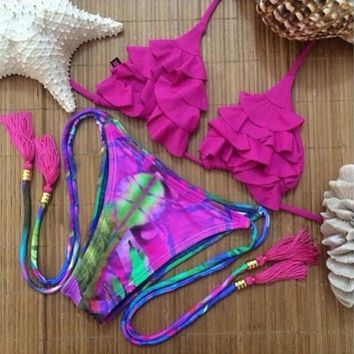 New Sexy Patchwork Women Swimwear Push Up Bikini Set Neon Swimsuit Bikini Sexy Bathing Suit