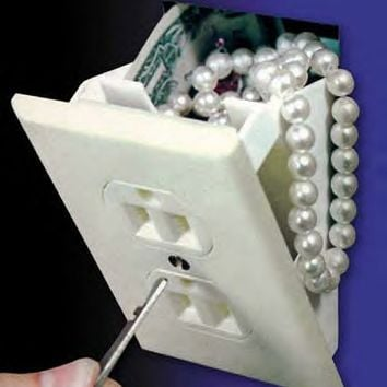 Hidden Wall Plug Safe  - Slightly Unusual