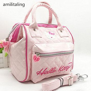New Cute Women Hello kitty Girl Messenger Bag Handbag Purse yey-8752 Pink