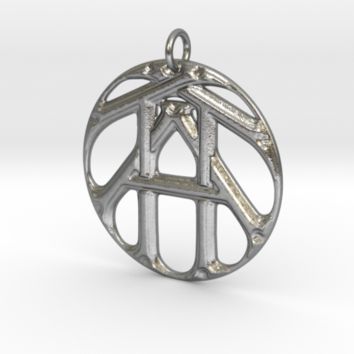Monogram Initials TTA Pendant by CalicoFlair on Shapeways