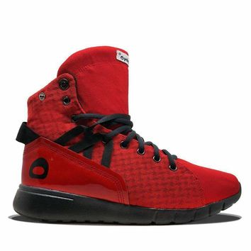 Red/Black Mission Trainer High Top Sneakers