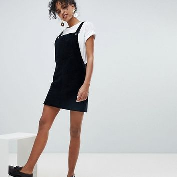 New Look Corduroy Pocket Pinny Dress at asos.com