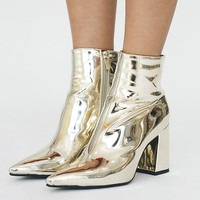 Kravitz Metallic Boots // Gold