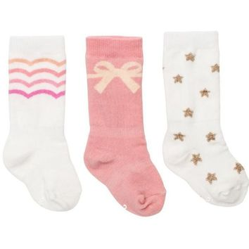 Baby Girl Pretty In Pink Socks - 3 Pack