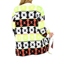 Join the Tribe Cardigan - Neon Yellow