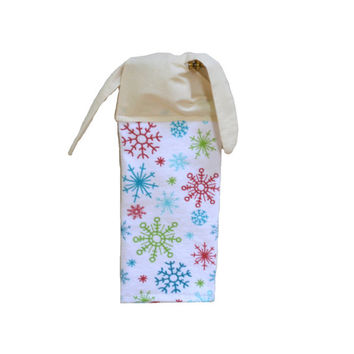 Snowflake Hand Towel, Kitchen Towel, Christmas Decor, Hanging Towel, Tie on Towel, Towel with Ties, Linen, Christmas Towel, Gift for Her
