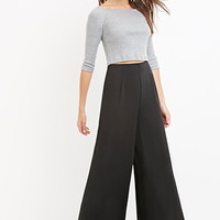 Contemporary Classic Wide-Leg Trousers